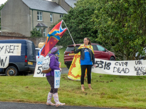 A welcome for Boris Johnson in Orkney
