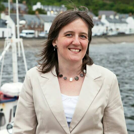 Maree Todd MSP picture at a harbour