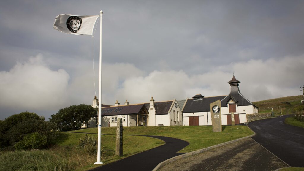 Orkney Brewery with flag flying