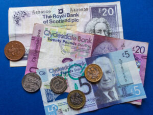 Scottish notes and coins